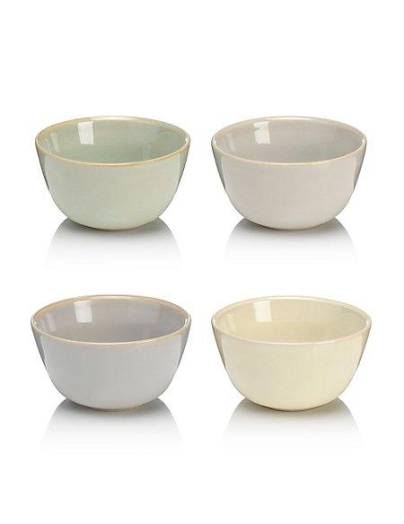 4 Assorted Artisan Dip Bowls