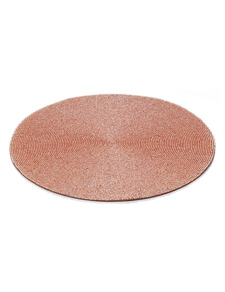 Round Beaded Table Mat