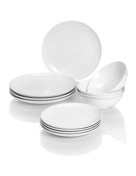 12 Piece Maxim Coupe Dinner Set