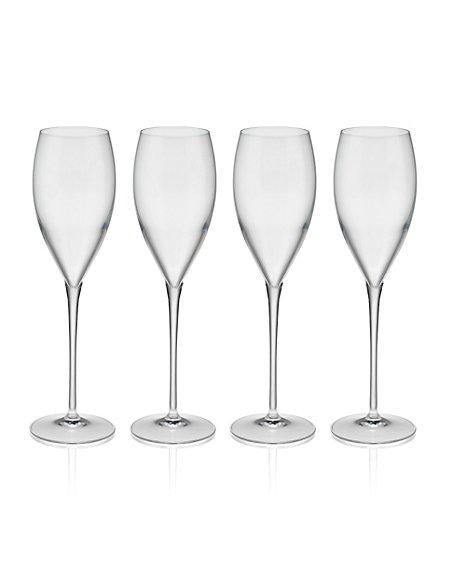 4 Magnificio Flute Glasses