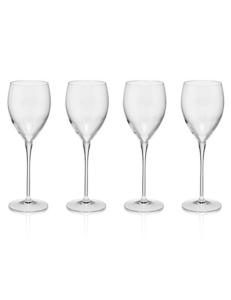 4 Magnificio White Wine Glasses