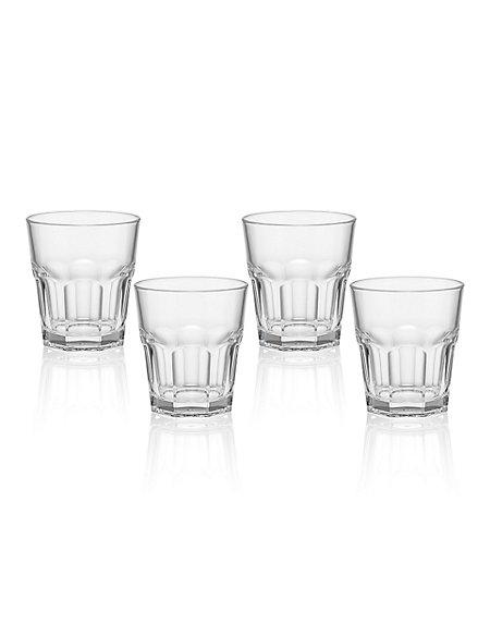4 American Soda Tumbler Glasses