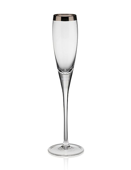 Luxe Banded Champagne Glass