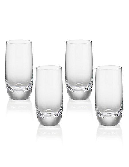 4 Sommelier Tall Mixer Glasses