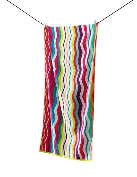 Pure Cotton Chevron Beach Towel