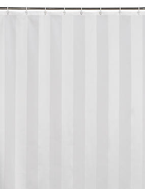 Woven Regency Stripe Shower Curtains