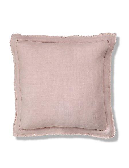 Linen with Fringe Cushion