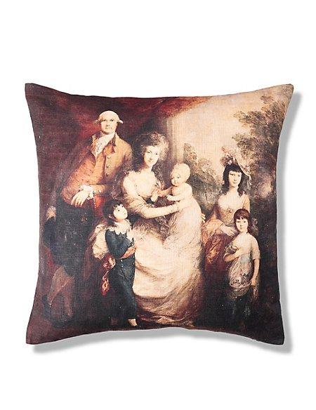 Vintage Family Portrait Cushion