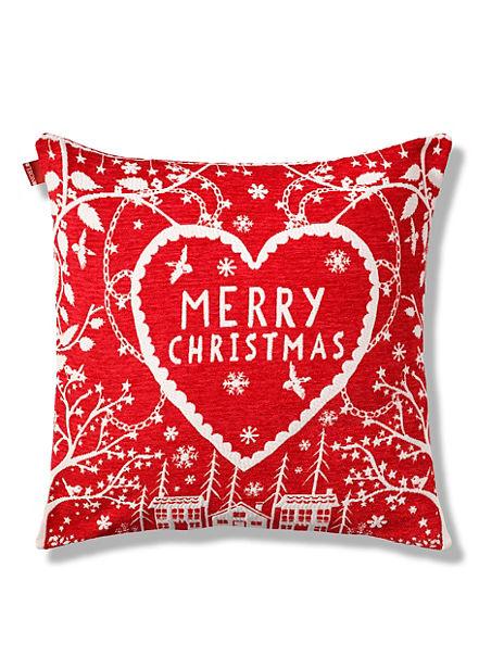Merry Christmas Village Chenille Cushion