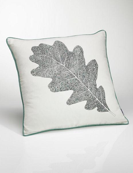 Conran Leaf Print Cushion