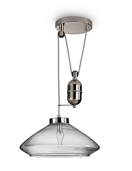 Glass House Rise & Fall Ceiling Pendant