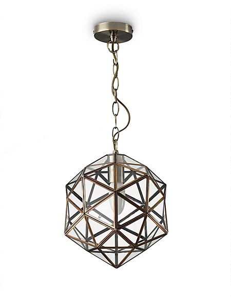 Glass Star Hanging Pendant
