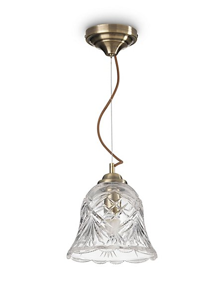 Manor Large Cut Glass Ceiling Pendant
