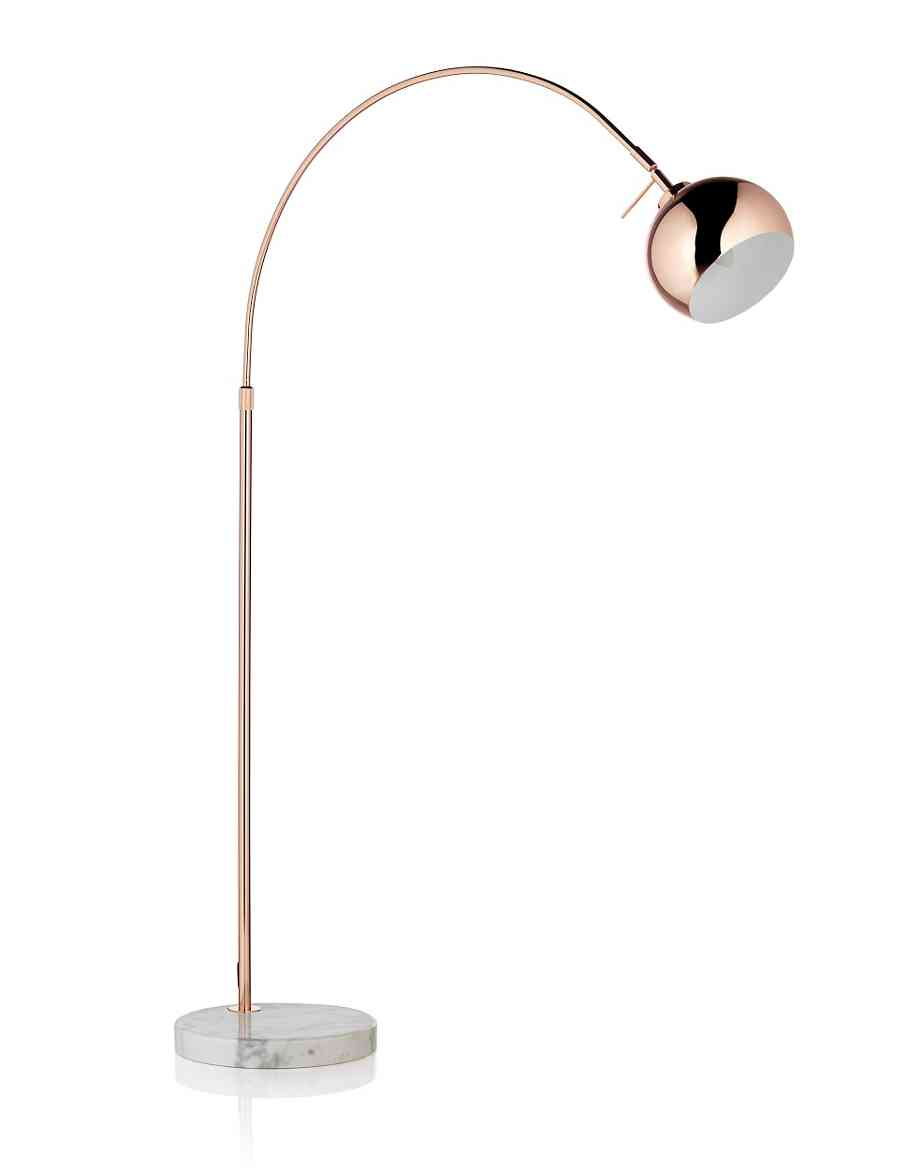 Copper Curve Floor Lamp Ms