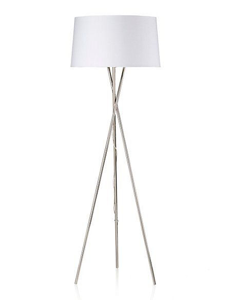Chrome Tripod Floor Lamp