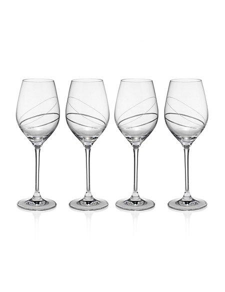 4 Pack Spiro White Wine Glasses