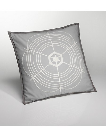 Conran Embroidered Web Cushion