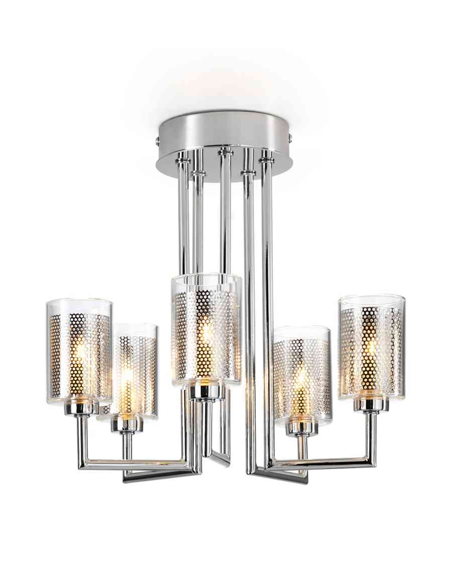 Modern Mesh 5 Arm Ceiling Light