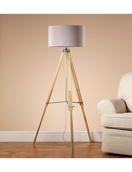 shade and floor lamp with stand amazon tripod wooden home dp in bulb