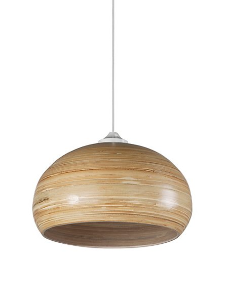 Bamboo ceiling lamp shade