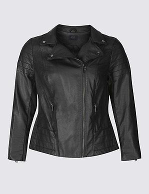 e34c0797f44d7 CURVE Biker Jacket | M&S Collection | M&S