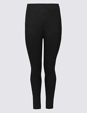 4f948fae233 CURVE Cotton Rich High Waist Leggings | M&S Collection | M&S