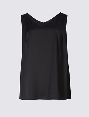 7026362aec CURVE V-Neck Longline Camisole Top | M&S Collection | M&S