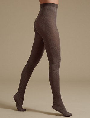e5db014325d Cable Diamond Texture Tights