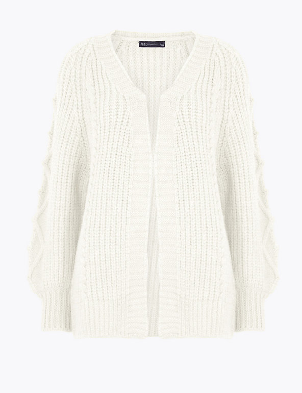 Cable Knit Relaxed Longline Cardigan | M&S Collection | M&S