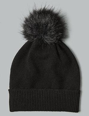 6a2f61d3a Cashmere Bobble Beanie Hat
