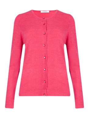 Marks /& Spencer Womens Cashmilon™ Fine Knit Cardigan New Soft M/&S Cardie Top