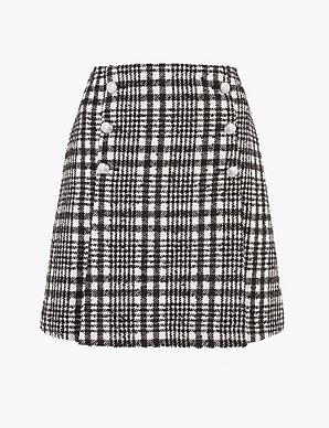 Dorothy Perkins Black Textured Ruffle Mini Skirt Gonna Donna