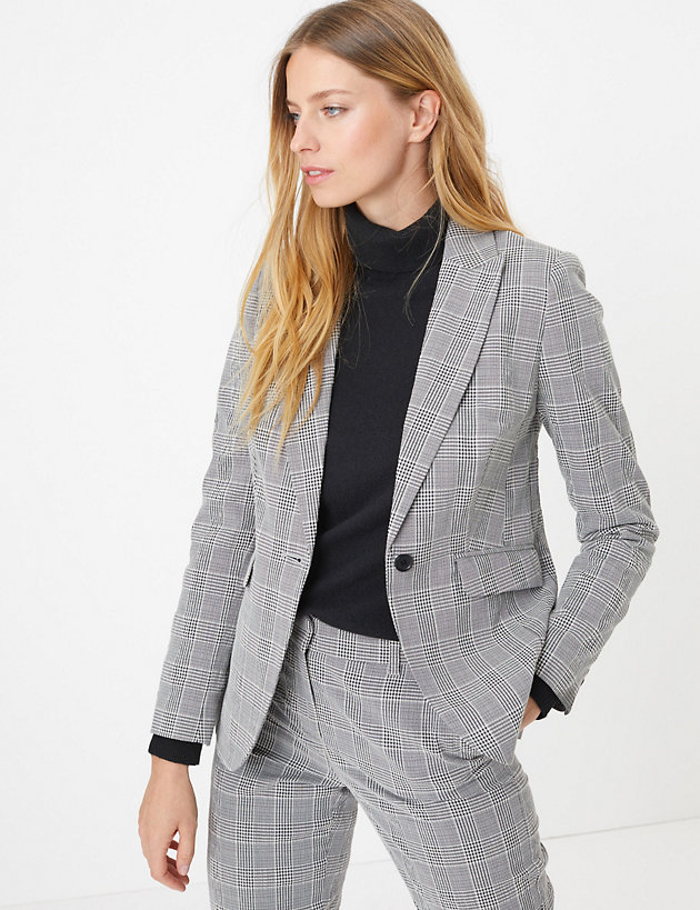 Checked Blazer Marks & Spencer