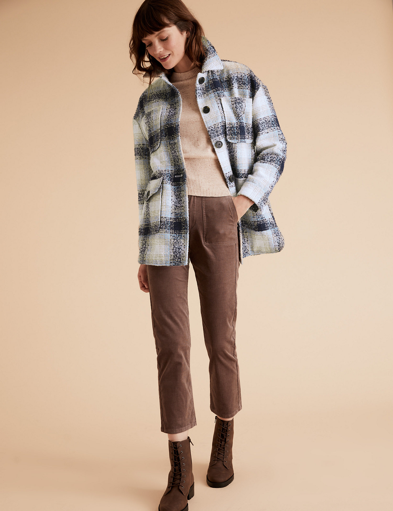 Checked Relaxed Shacket