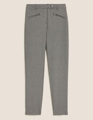 Checked Slim Fit Ankle Grazer Trousers