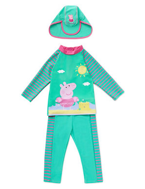 937e25acf6b Chlorine Resistant 3 Piece Safe in the Sun Peppa Pig™ & Lycra®  Xtra Life&trade