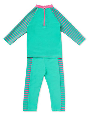 f5fc68fd42e Chlorine Resistant 3 Piece Safe in the Sun Peppa Pig™ & Lycra® Xtra Life™  Swimsuit (1-7 Years)   M&S