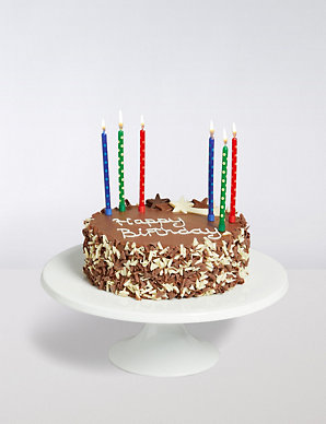 Wondrous Chocolate Birthday Cake With Candles Gift Ms Personalised Birthday Cards Epsylily Jamesorg