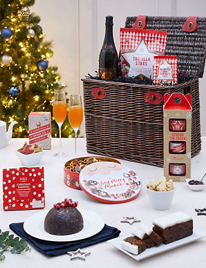 Christmas Gift Baskets 2019.Classic Christmas Hamper With Fizz Available For Delivery From 30th October 2019