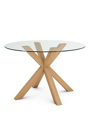 Colby Round Gl Dining Table With 4 Legs