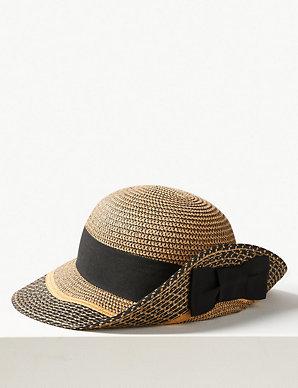 3da49915 Contrast up Brim Sun Hat | M&S Collection | M&S