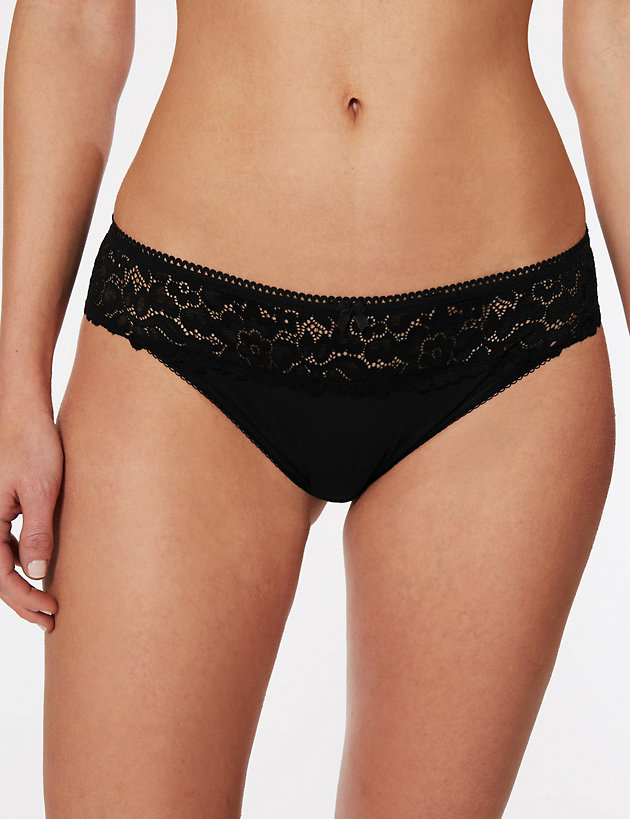 Cool Comfort™ Cotton Blend Brazilian Knickers