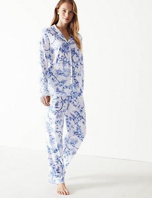 98826e486 Cool Comfort™ Cotton Modal Floral Pyjama Set | M&S Collection | M&S