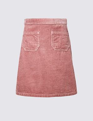 5e5cebec1ca0d Corduroy A-Line Mini Skirt | M&S Collection | M&S