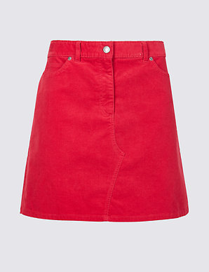 0542b7b649f Corduroy A-Line Mini Skirt