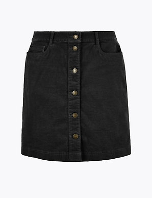 M/&S Classic Size 12 14 20 24  A-Line Pull On Textured Skirt Chocolate Mix £29.50