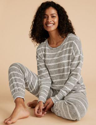 Cosy Striped Lounge Sweatshirt Image 1 of 4