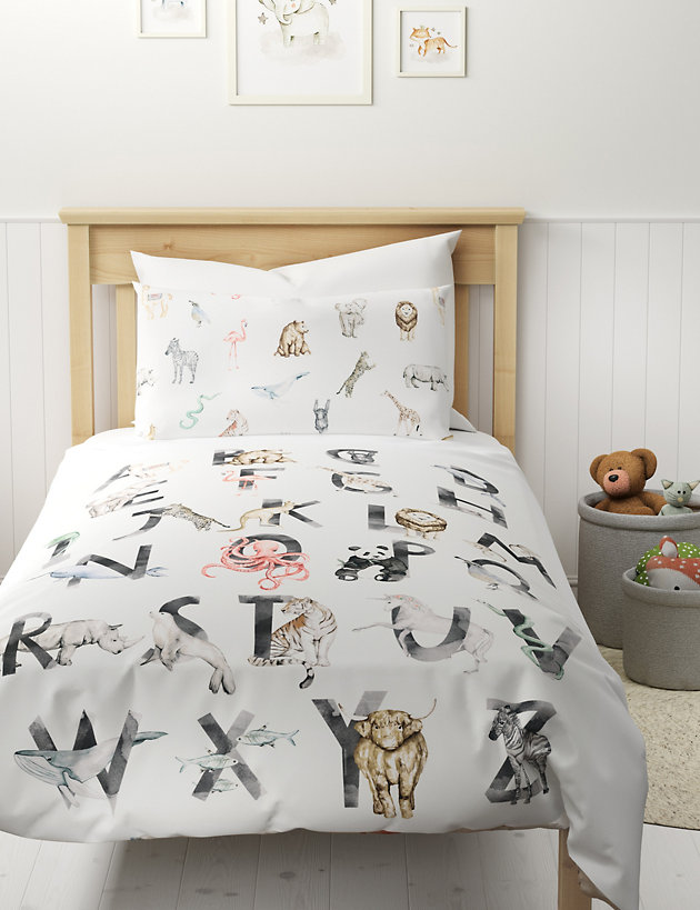 Cotton Alphabet Bedding Set