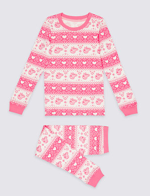 Cotton Blend Peppa Pig Thermal Set 18 Months 7 Years