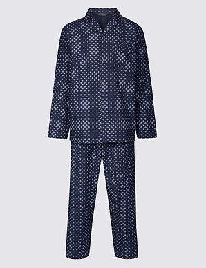 41090a856 Cotton Blend Printed Pyjama Set | M&S Collection | M&S